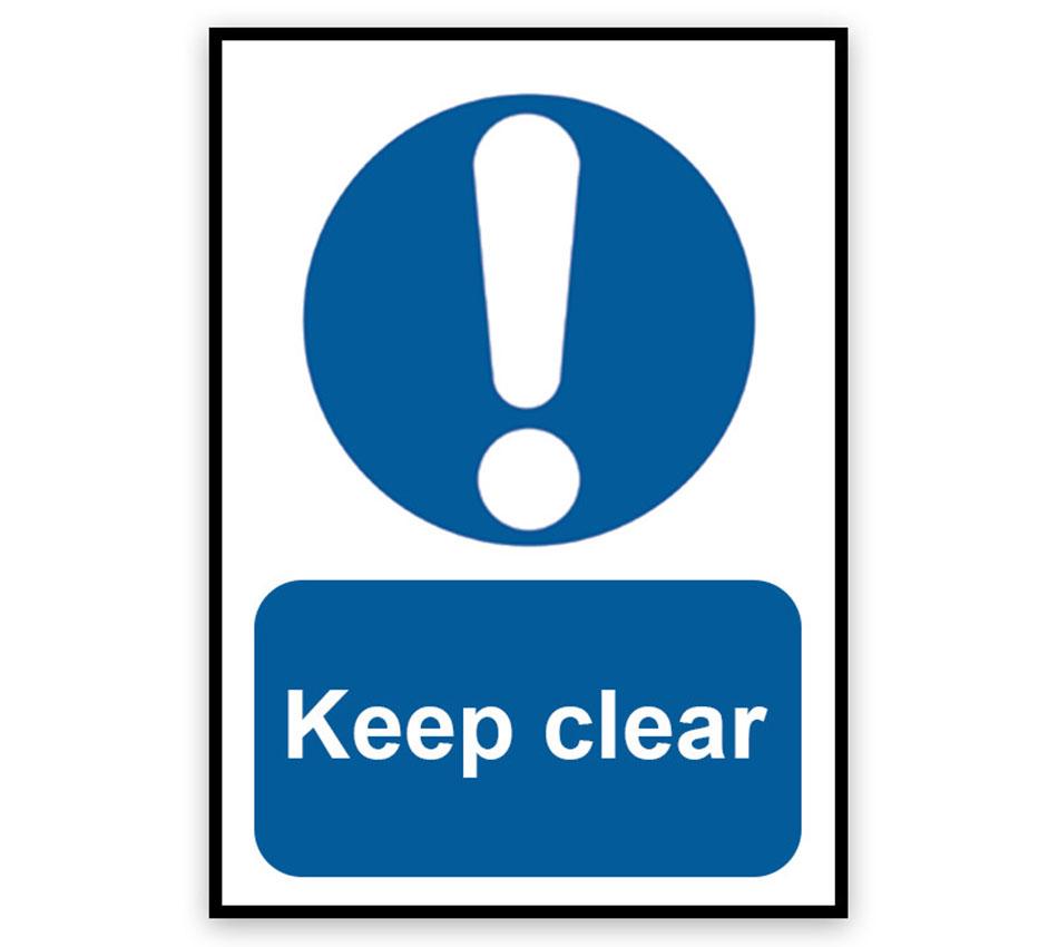 Keep Clear Signage