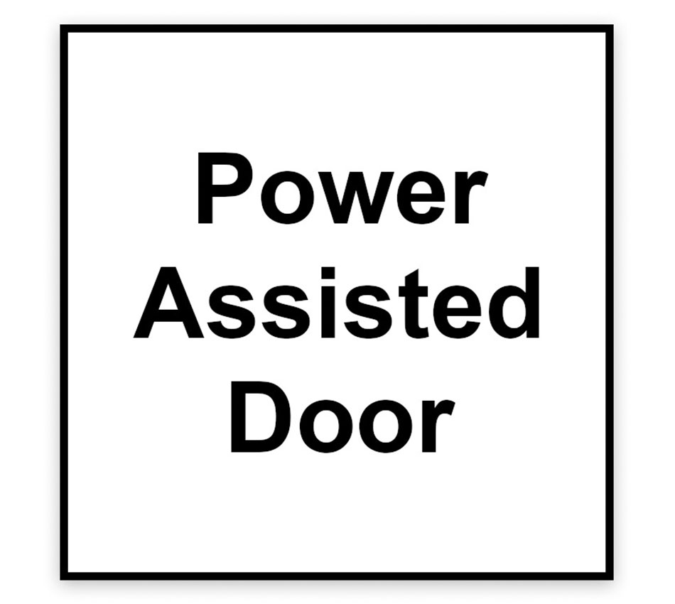 Power Assisted Door Signage