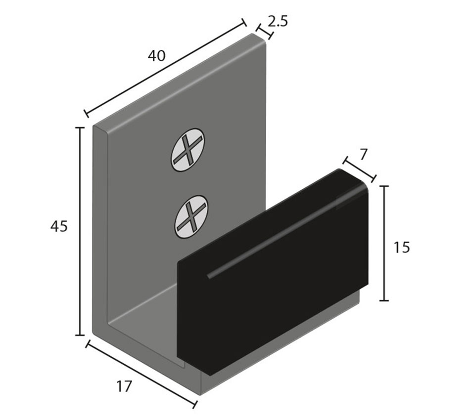 Floor Guide - Sliding Profile 45 x 17mm