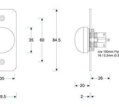 High Impact Push Button IP67 Dimensions